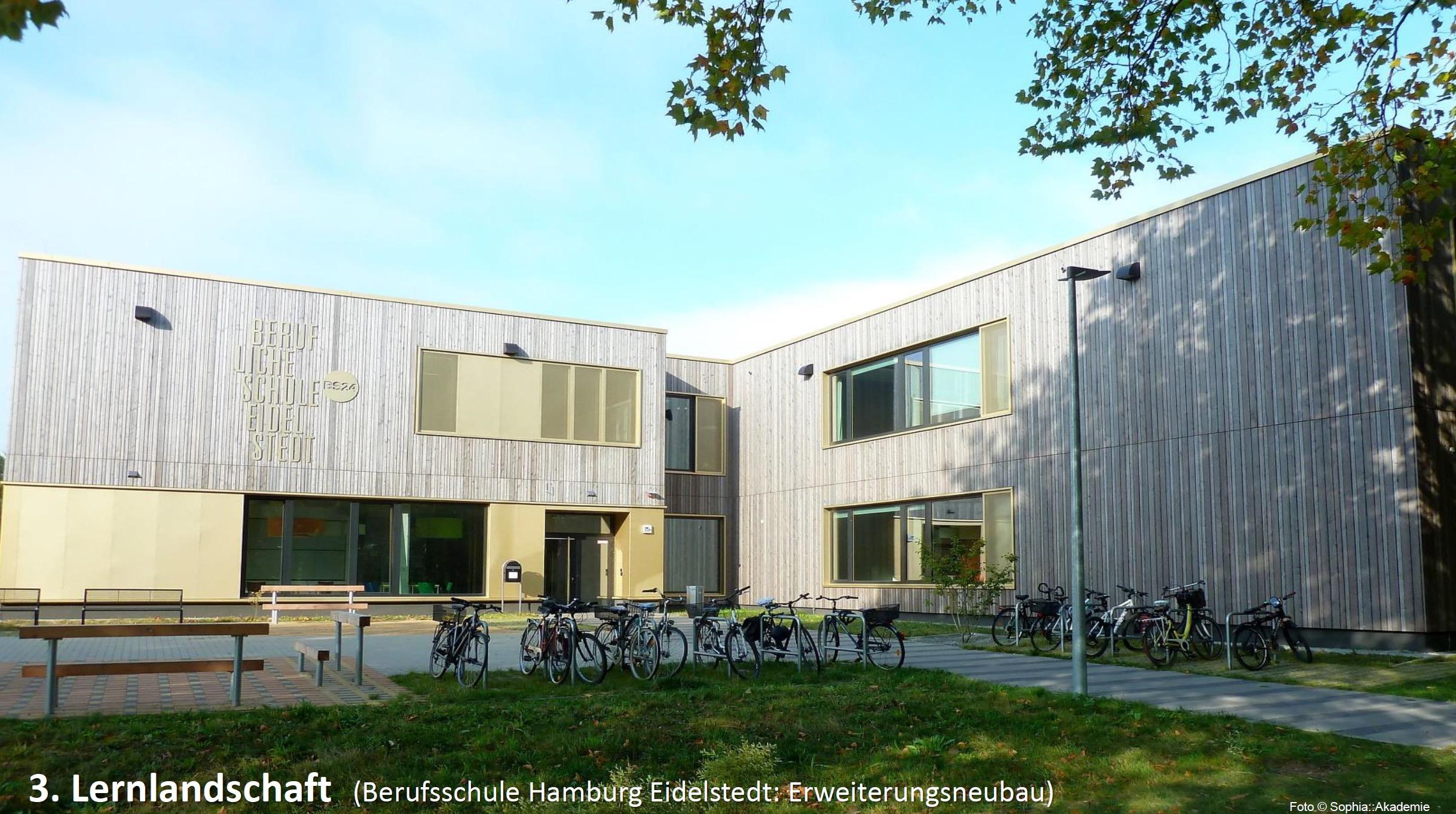 Beispiel für Schulbautypologie: Lernlandschaft ©Sophia::Akademie